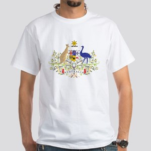 Aussie Coat of Arms White T-Shirt