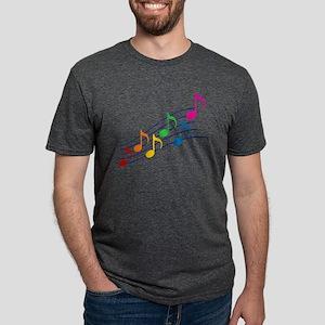 Rainbow Music Notes Mens Tri-blend T-Shirt