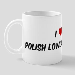 I Love: Polish Lowland Sheepd Mug