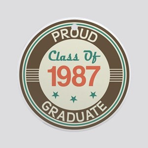 Vintage Class of 1987 Ornament (Round)