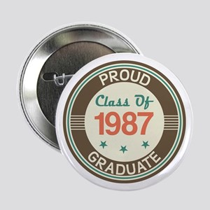 """Vintage Class of 1987 2.25"""" Button"""