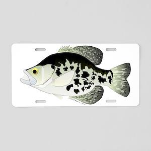 Black Crappie t Aluminum License Plate