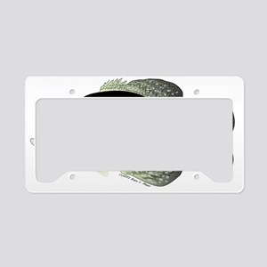 Black Crappie t License Plate Holder