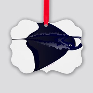 Manta Ray c Picture Ornament