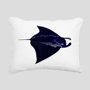 Manta Ray c Rectangular Canvas Pillow