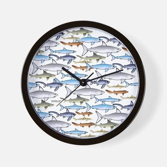 School of Sharks t Wall Clock