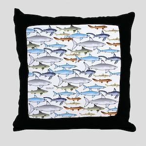School of Sharks t Throw Pillow