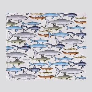 School of Sharks t Throw Blanket