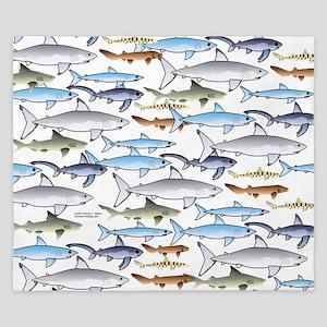 School of Sharks t King Duvet