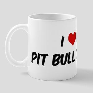 I Love: Pit Bull Terrier Mug