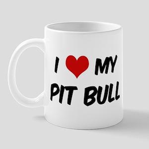 I Love: Pit Bull Mug