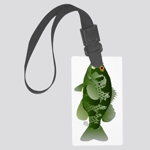 Rock bass Goggle Eye v Large Luggage Tag