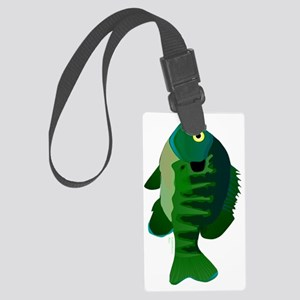 Bluegill Sunfish tv Large Luggage Tag