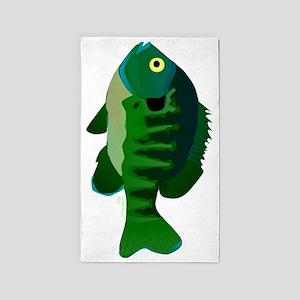Bluegill Sunfish tv 3'x5' Area Rug