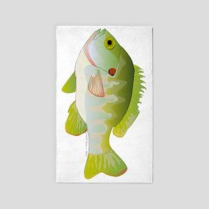 Redear Sunfish tv 3'x5' Area Rug