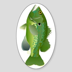 Green Sunfish v Sticker (Oval)