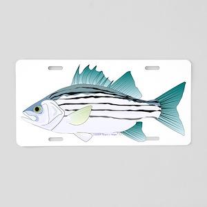 White Bass ct Aluminum License Plate