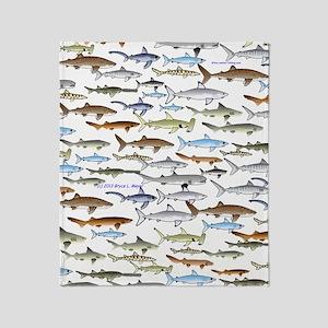 school of sharks 2V3 Throw Blanket