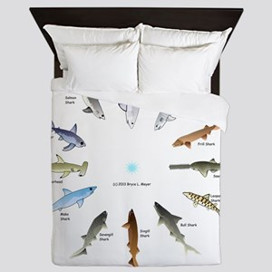 Shark Clock Two Queen Duvet