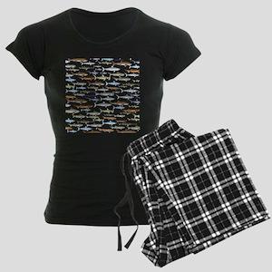 school of sharks 2f2 Women's Dark Pajamas