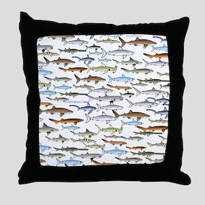 school of sharks 2f2 Throw Pillow