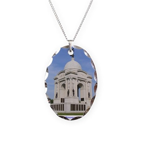 Pennsylvania_Monument Necklace Oval Charm