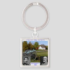 Antietam_Lee_McClellan Square Keychain