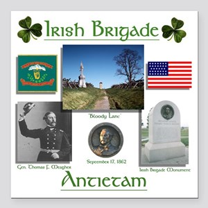 "Irish Brigade_Antietam Square Car Magnet 3"" x 3"""