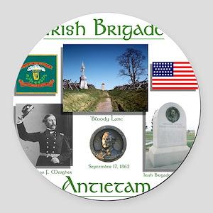 Irish Brigade_Antietam Round Car Magnet