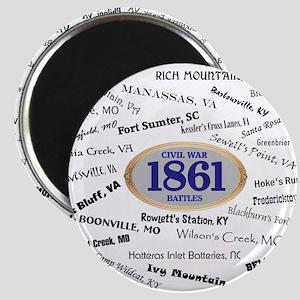Battles - 1861 Magnet