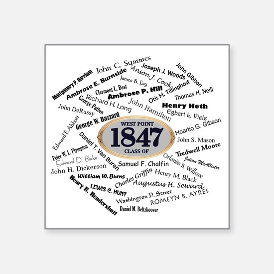 "West Point - 1847 Square Sticker 3"" x 3"""
