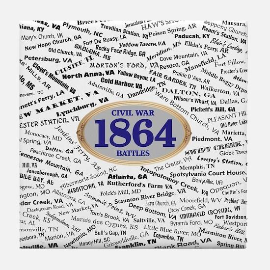 Battles - 1864 Tile Coaster