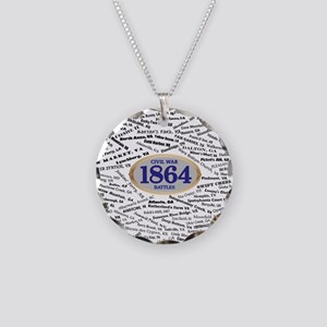 Battles - 1864 Necklace Circle Charm