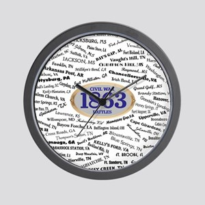 Battles - 1863 Wall Clock
