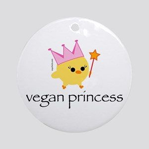 Vegan Princess Ornament (Round)