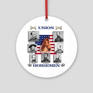 Union Horsemen Round Ornament