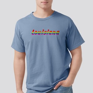 louisiana-rbw-txt Mens Comfort Colors Shirt