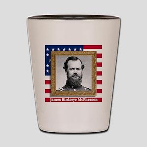 James B. McPherson Shot Glass