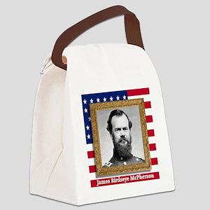 James B. McPherson Canvas Lunch Bag