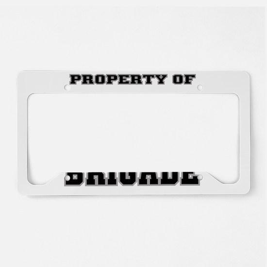 Property of the Alabama Briga License Plate Holder