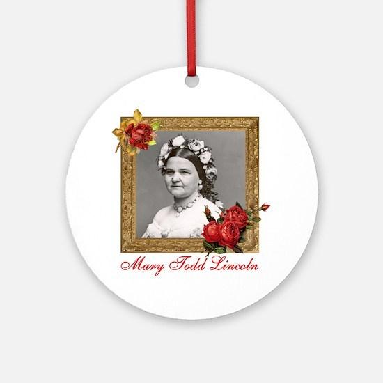 Mary Todd Lincoln Round Ornament