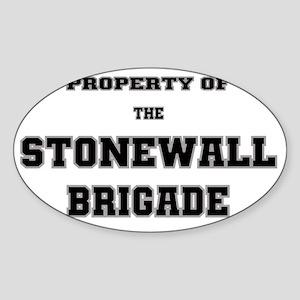 Property of Stonewall Brigade Sticker (Oval)