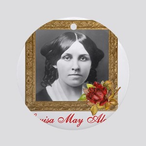 Louisa May Alcott Round Ornament