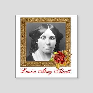 "Louisa May Alcott Square Sticker 3"" x 3"""
