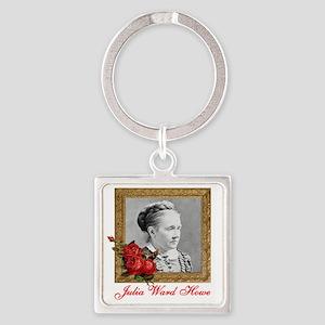 Julia Ward Howe Square Keychain