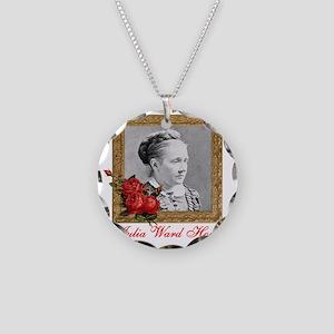 Julia Ward Howe Necklace Circle Charm