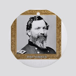 Uncle John Sedgwick Round Ornament