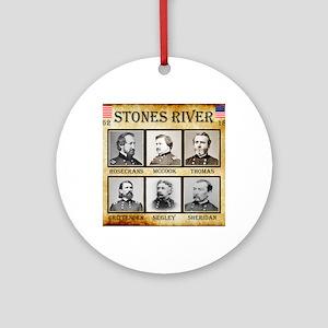 Stones River - Union Round Ornament