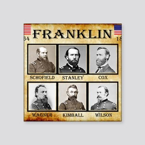 "Franklin - Union Square Sticker 3"" x 3"""