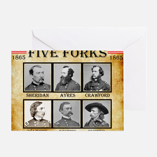 Five Forks - Union Greeting Card